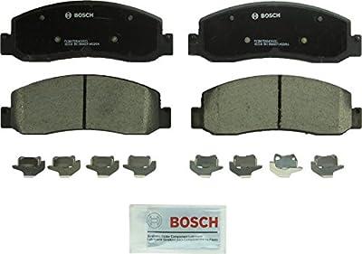 Bosch BC1069 QuietCast Premium Ceramic Disc Brake Pad Set For Ford: 2005-2009 F-250 Super Duty, 2005-2009 F-350 Super Duty, 2010-2012 F-450 Super Duty; Front