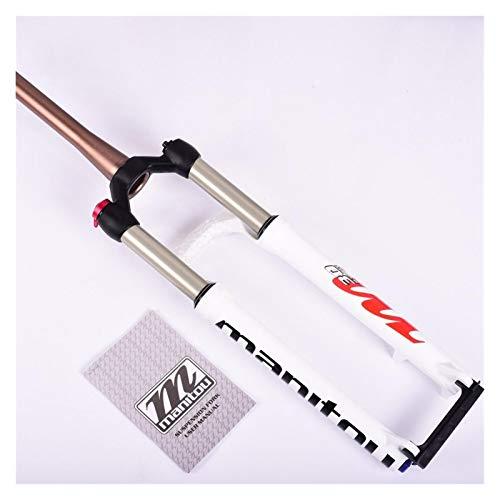 WFBD-CN Mountainbike-Gabel MTB-Fahrradgabel für 26 27.5 29er Mountainbike Gabel Öl- und Gasgabel Remote Lock Luftdämpfung Suspensionsgabel Fahrradsuspension Gabeln. (Color : 27.5 Cone M30)