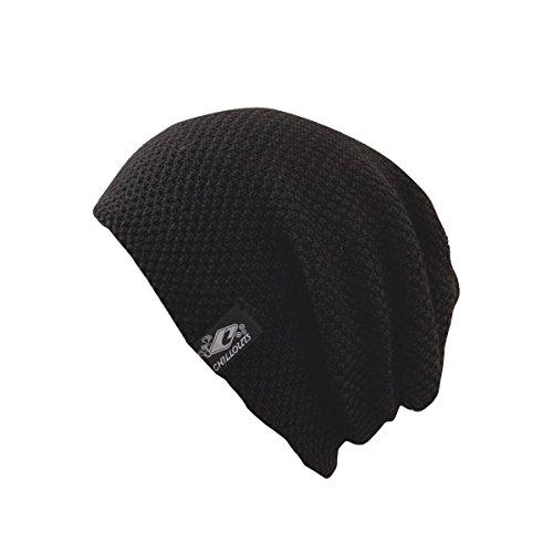 CHILLOUTS Erwachsene Mütze Osaka Hat Longbeanie, 10 Black, Einheitsgröße