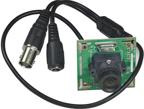 Ansice 2.5mm Lens Wide Angle Mini Spy Board Camera Pinhole Camera 600TVL CMOS CCTV Security Hidden with Bonus Power Supply