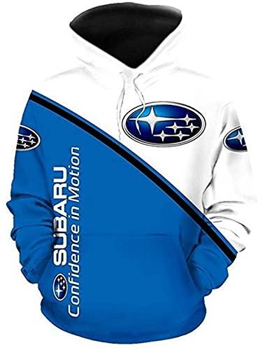 De gama alta personalizar Su.B.ar.U 3D logotipo impresión digital suéter camisas moda deportes sudaderas otoño invierno manga larga sudadera con capucha para hombres mujeres S a 5XL ropa ropa ropa