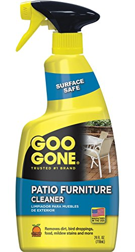 Goo Gone Patio Furniture Cleaner - Removes Dirt, Bird Droppings, Food, Mildew Stains and More From Your Outdoor and Patio Furniture - 24 Fl. Oz., 2107
