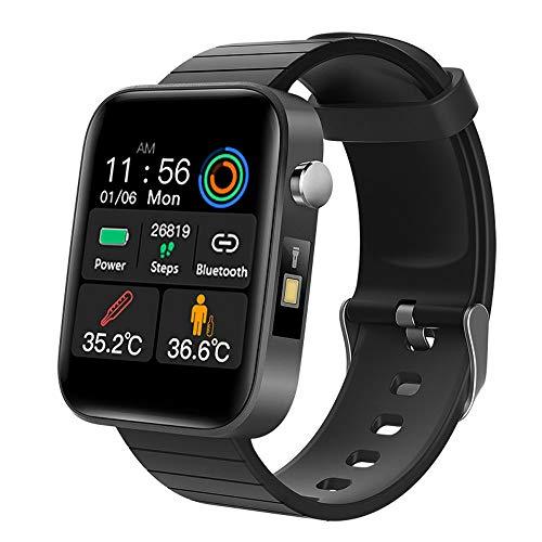 Stafeny Un reloj inteligente universal para hombres y mujeres, que puede detectar la temperatura corporal, la frecuencia cardíaca y la presión arterial después de usarlo
