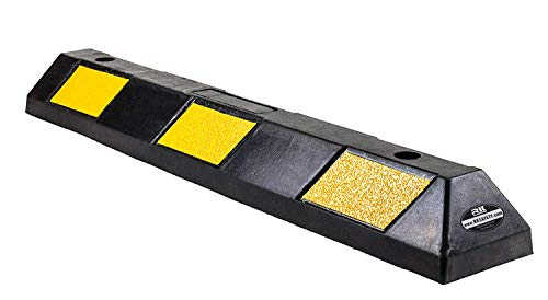 RK-BP36 Rubber Curb Parking Block for Driveway and Garage, 36 -Inch