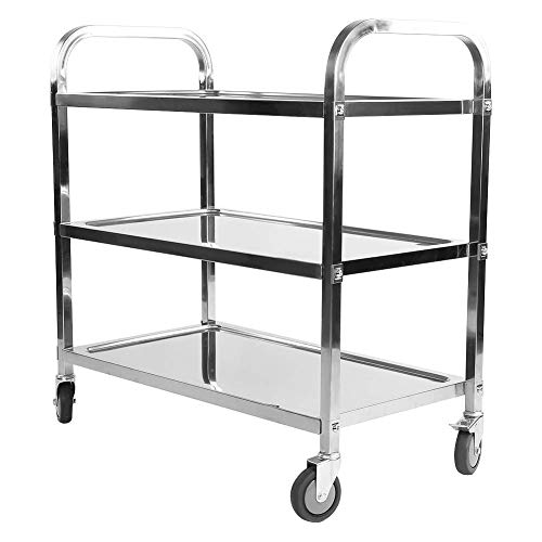 Nisorpa 750x400x835MM 3 Tier Stainless Steel Utility Cart Kitchen Cart...