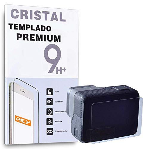 REY Protector de Pantalla para GOPRO HERO5 Black, HERO6 Black, HERO7 Black, HERO8 Black, Cristal Vidrio Templado Premium