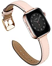M MARGMATIVO Compatible with Apple Watch Band 41mm 45mm 40mm 44mm 38mm 42mm, Soft Leather Wristbands Replacement Strap for iWatch Series SE 6 5 4 3 2 1 for Women Men Sport
