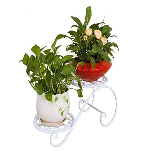 Pot de fleurs Stand De Fleur De Sol Blanc Solide En Fer Forgé Multi-niveaux Salon Balcon Stand de l'usine