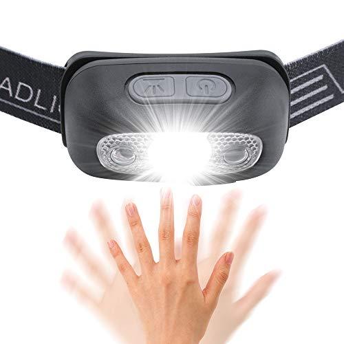Wesho Linterna Frontal LED USB Recargable 200lm Ángulo
