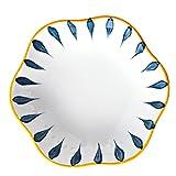HEMOTON 2Pcs 7 Pollici Ciotole di Ceramica da Dessert Ciotole per La Cucina Piccolo Ciotole Set per Ice Cream Lato Piatto Spuntino di Zuppa Dolce Dip Ciotole