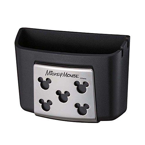 ナポレックス 車載ホルダー ディズニー ワイドポケット ミッキー スマホポケット ソフト素材 充電ケーブル用穴あり 汎用 WD-358