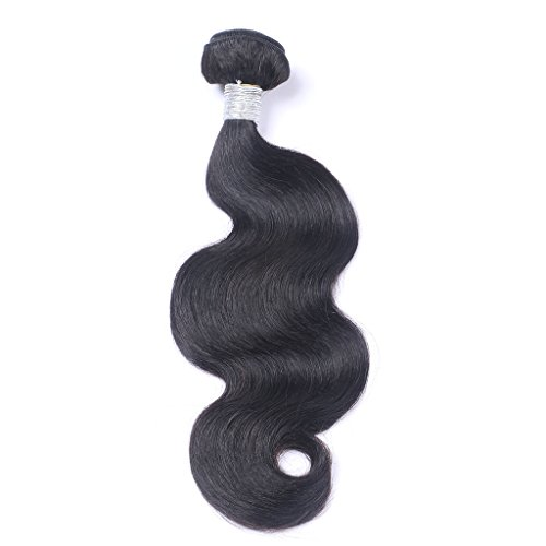 """Natural Black Body Wave 100gG/Bundle Length 8"""" to 24""""100% Human Hair Weave Weft Extensions(24"""")"""