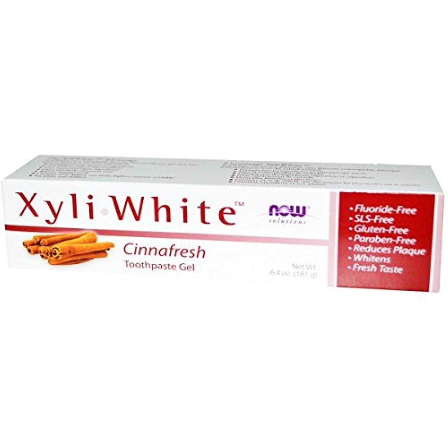 ゴシップ毎年重さ[海外直送品] ナウフーズ(Now Foods) キシリホワイト トゥースペースト(シナフレッシュ) 181g