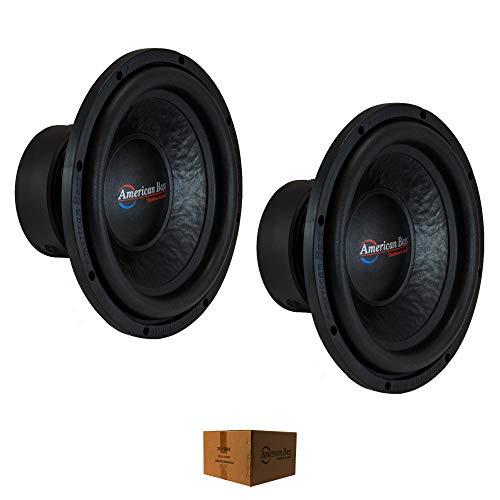 "2 x 12 Subwoofer 1200W 2"" 4 Ohm DVC Pro Car Audio American Bass XO-1244"
