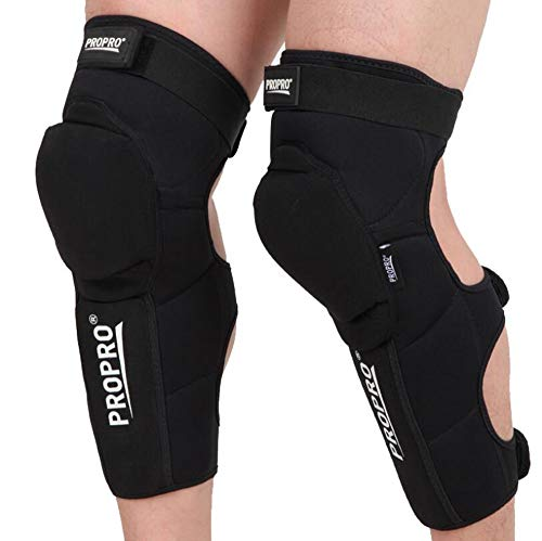 Knee Shin Guards Adults Knee Pads Protector Flexible Breathable Adjustable Knee Support Protective Pads Guard for Downhill Skiing Motorcycle Racing Mountain Bike,L/XL