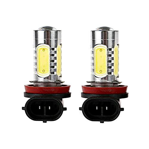 Dankera 2PCS H11 H8 H9 Fog Light Bulb Turn Signal Reverse Light 6000K Xenon White 20W High Power COB Chip 360 Degree with Projector LED Bulb