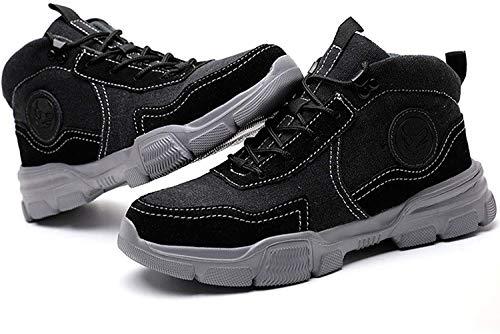 Zapatos de trabajobotas de seguridad para hombres,mujeres,zapatillas con puntera de acero,puntera ligera,botas de trabajo con cordones,zapatillas,entresuela de kevlar impermeable Botas de Seguridad