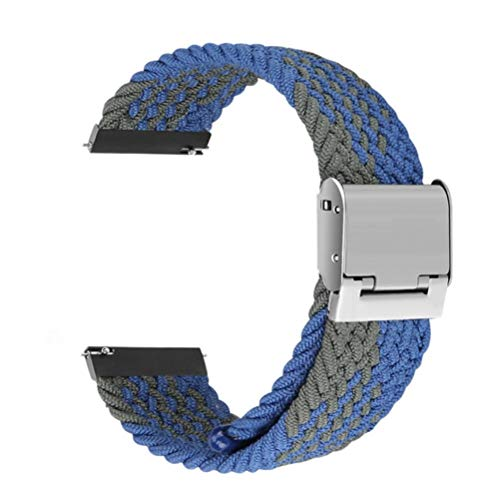QSMIANA silikonarmband Flexible Nylon Einstellbare Länge Für Samsung S1 S2 S3 Smartwatch 20 / 22Mm Sport Solo Loop Gurt