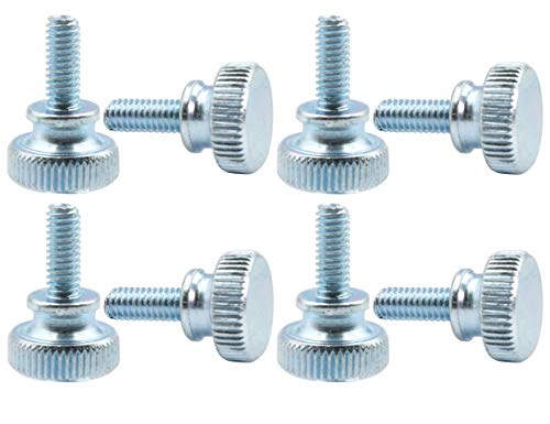 Brass Thumb Screw Flat Point Pack of 5 Plain Finish M4-0.7 Metric Coarse Threads Made in US 9mm Length Knurled Head Fully Threaded