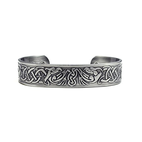 Accents Kingdom Silver-Tone Phoenix Magnetic Therapy Celtic Copper Cuff Golf Bracelet