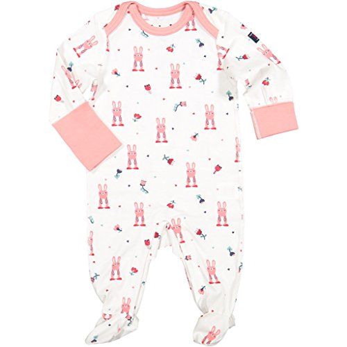 Polarn O. Pyret Bunny Fun ECO Pajamas (Newborn) - 0-2 Months/Evening Sand