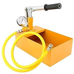 KKmoon – Probador de presión de agua 2,5 MPa 25 kg manual hidráulica bomba de prueba con manguera G1/2in