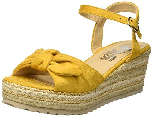 Sandalias amarillas con plataforma para mujer