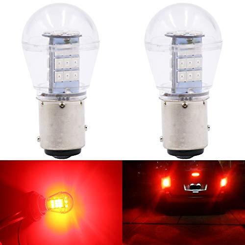 Qoope -2-Stück 9V-24V DC 1157 Glühlampe Ersetzt das 1034 7528 2057 2357 Base - Hohe Helligkeit Licht Für Blinker (Rot)