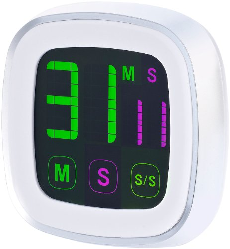 infactory Eieruhr: Magnetischer Küchentimer mit farbigem Touchscreen (Timer)