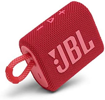 JBL Go 3 Portable Speaker with Bluetooth Built in Battery Waterproof and Dustproof Feature Red product image