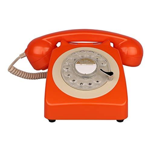 Americana Fissa Telefono Studio Antico Europeo di Un-Chiave Ricomposizione Digitale comunicatore telefonico Fisso Colore Arancione (Colore : Orange)