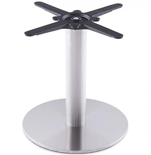 Clear Seat Kokoon Design - Pied de Table Basse Rond Acier Brosse