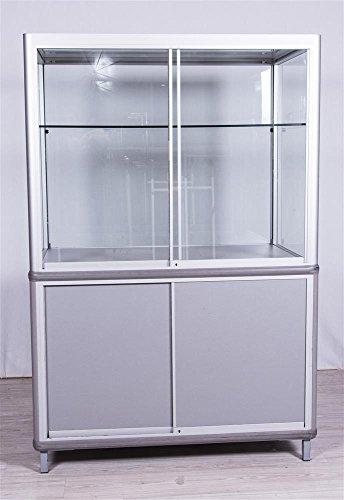 Sommer International GmbH Vitrine mit Unterschrank, 120x80x180cm (BxHxT)