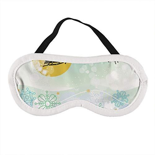 Tragbare Augenmaske für Damen und Herren, Weihnachtsszene, Weihnachtsmann, Schlitten-Silhouette, die beste Schlafmaske für Reisen, Nickerchen, gibt Ihnen die beste Schlafumgebung