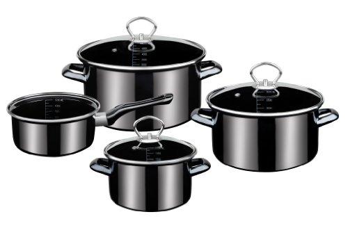 GSW 255417 PROFI-BLACK-STAR Batterie de cuisine 4 pièces