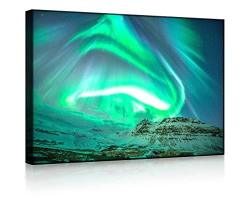 Lightbox-Multicolor   LED Bild   Nordlichter über Island   100x70 cm   Front Lighted