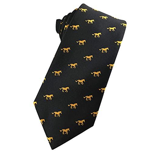 YoungbG Corbata para Hombre Jockey Corbatas de Carreras de Caballos Corbatas de Jacquard Ecuestre