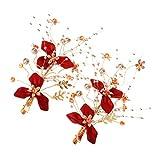 Minkissy 2 Piezas de Horquillas Japonesas Kimono Flor Kanzashi Horquillas Clip para...