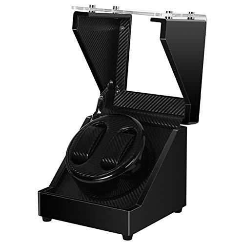 ZCY Uhrenbeweger 2 + 0 Klavierlack Automatische Carbon-Faser-Uhrenbeweger Acryl-Abdeckung Uhrenbeweger Remontoir Motor Mover Rotator Winding Box Watch Winder