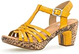 Gabor Mujer Sandalias de Vestir, señora Sandalia tacón,Zapatos de Verano,Zapatos de tacón Abierto,tacón Alto,Mango (KorkSnake),38.5 EU / 5.5 UK
