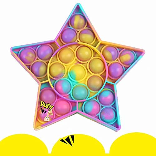 Push pop Bubble Fidget Toy, Simple Dimple Fidget Toy, Sensory Fidget Pop Toy, Autism Special Needs Stress Reliever, Office Desk Toy for Kids Adults Relieve Emotional Stress (Z Starfish)