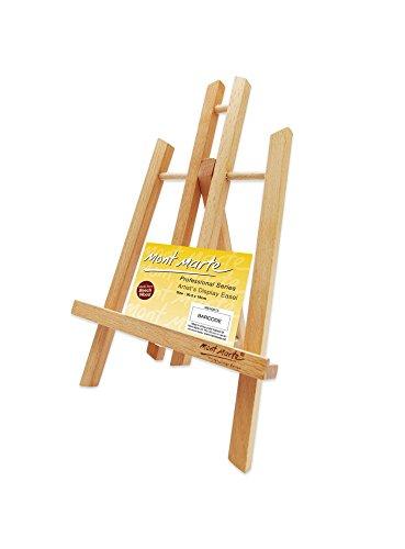 Mont Marte Kleine Tischstaffelei aus Buchenholz - Small - Kompakte Staffelei - Ideale Holzstaffelei zum präsentieren von Leinwänden und Keilrahmen bis 30 cm - Perfekt für Veranstaltungen und Events