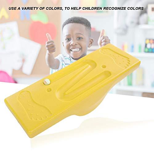 Kids Balance Board, sicherer rutschfester Fitness Board Balance Trainer mit 6 Kugeln für das sensorische Integrationstraining für Kinder(Gelb)