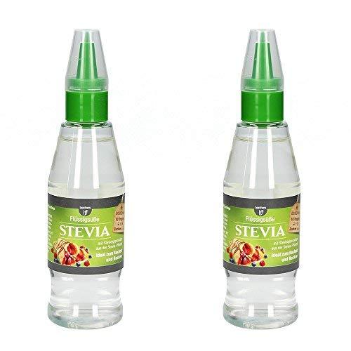 2 x borchers Stevia Flüssigsüße, Tafelsüße, Steviolglycoside, für Getränke und Speisen, Alternative zu Zucker 125 ml