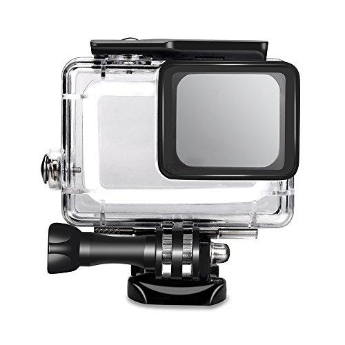 Funda protectora impermeable para Gopro Hero 7, carcasa protectora de buceo subacuático, carcasa de 45 m con soporte para Go Pro Hero 6/5 y GoPro Hero 7 cámara de acción deportiva negra