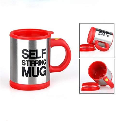 DACCU 400ml beker automatisch Electric Faule zelfroerende beker cup koffie melk mixbeker smart roestvrij staal sap mix beker, rood