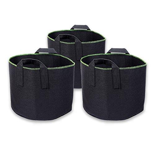 Schramm® 3 Stück 60 Liter Pflanzsäcke aus Vliesstoff Höhe 40,5 cm Pflanzsack Garten Sack aus Fliesstoff Pflanzgefäß Pflanzbehälter Pflanzbeutel