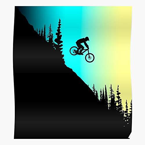 Sconosciuto Mountain MTB Bike Ride BMX Bicycle Rider Enduro Home Decor Wall Art Print Poster ! Home Decor Wall Art Print Poster !