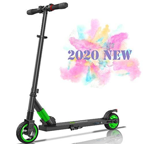 Windway Faltbarer Elektroroller, LCD-Display, 250W, 12 km Langstrecke Batterie, bis zu 23 km/h, Einfach zusammenklappbarer und tragbarer E-Scooter für Kinder und Erwachsene (Grün)