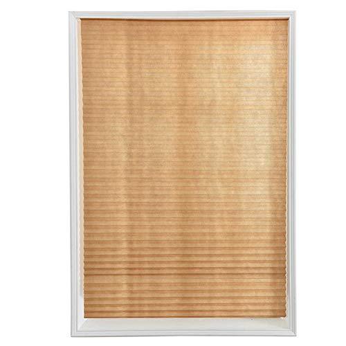 Mikolot Selbstklebende Plissee Papier-Jalousien für Badezimmer, Küche, Balkon, braun, 90 x 180cm